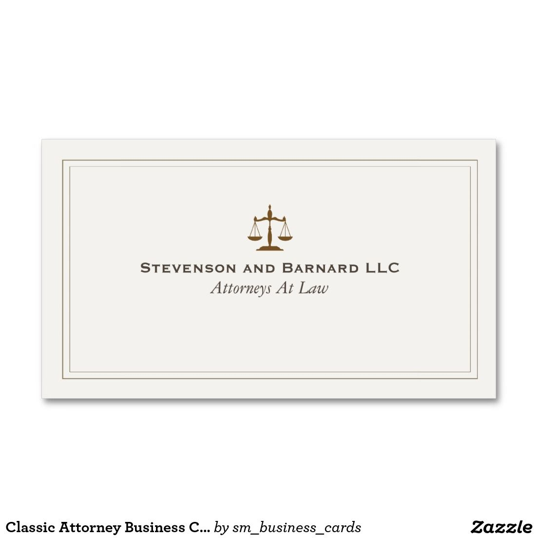 Tarjeta De Visita Clasica Del Abogado Business Cards Business And