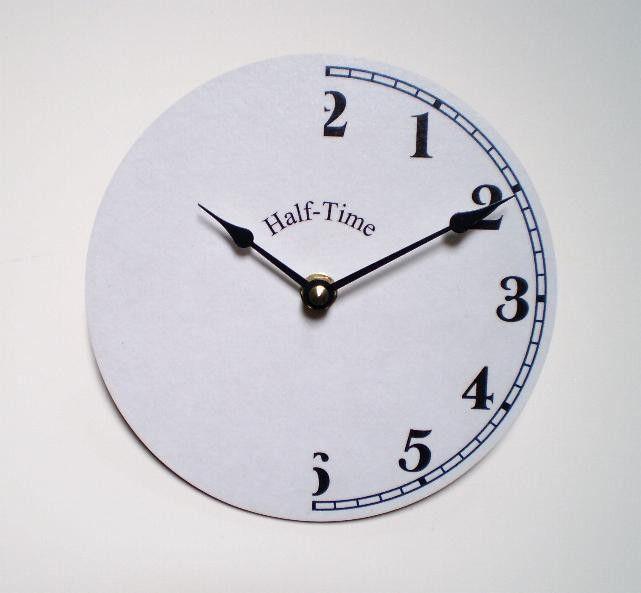 Half Time Clock. $17.00, via Etsy.   Clocks   Pinterest   Time ...
