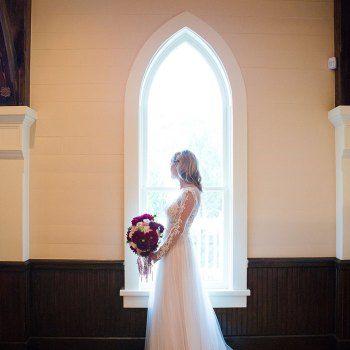 Bride Portrait At The Tybee Island Wedding Chapel
