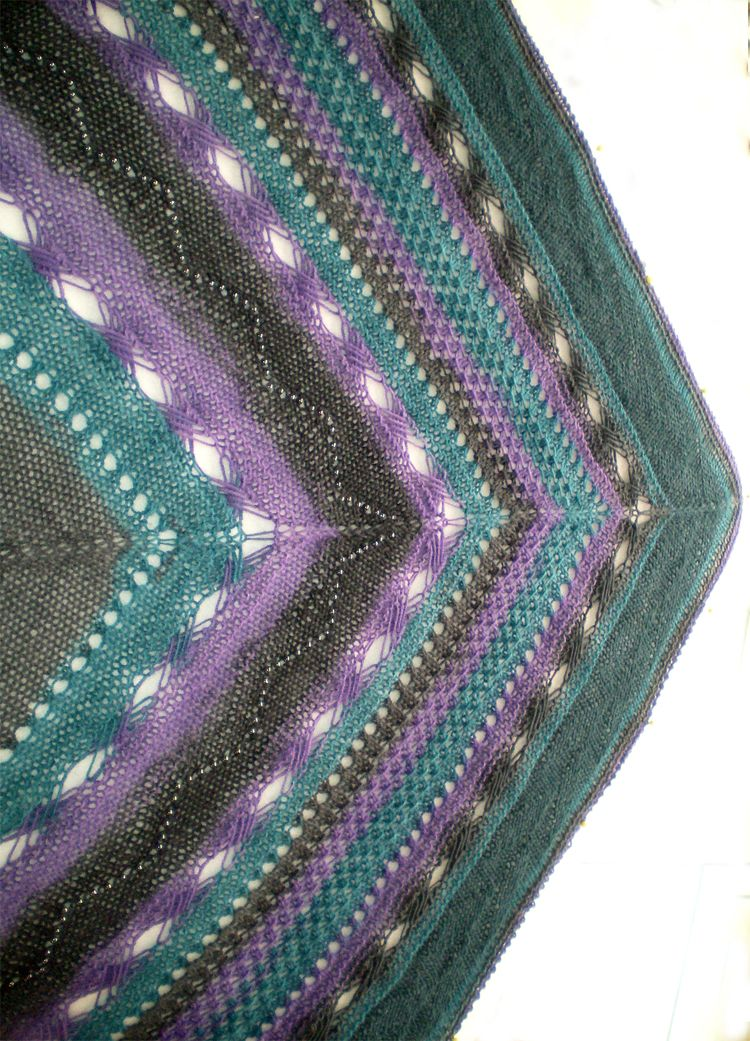 Free Knitting Pattern For Indian Inspiration Shawl This Oversized