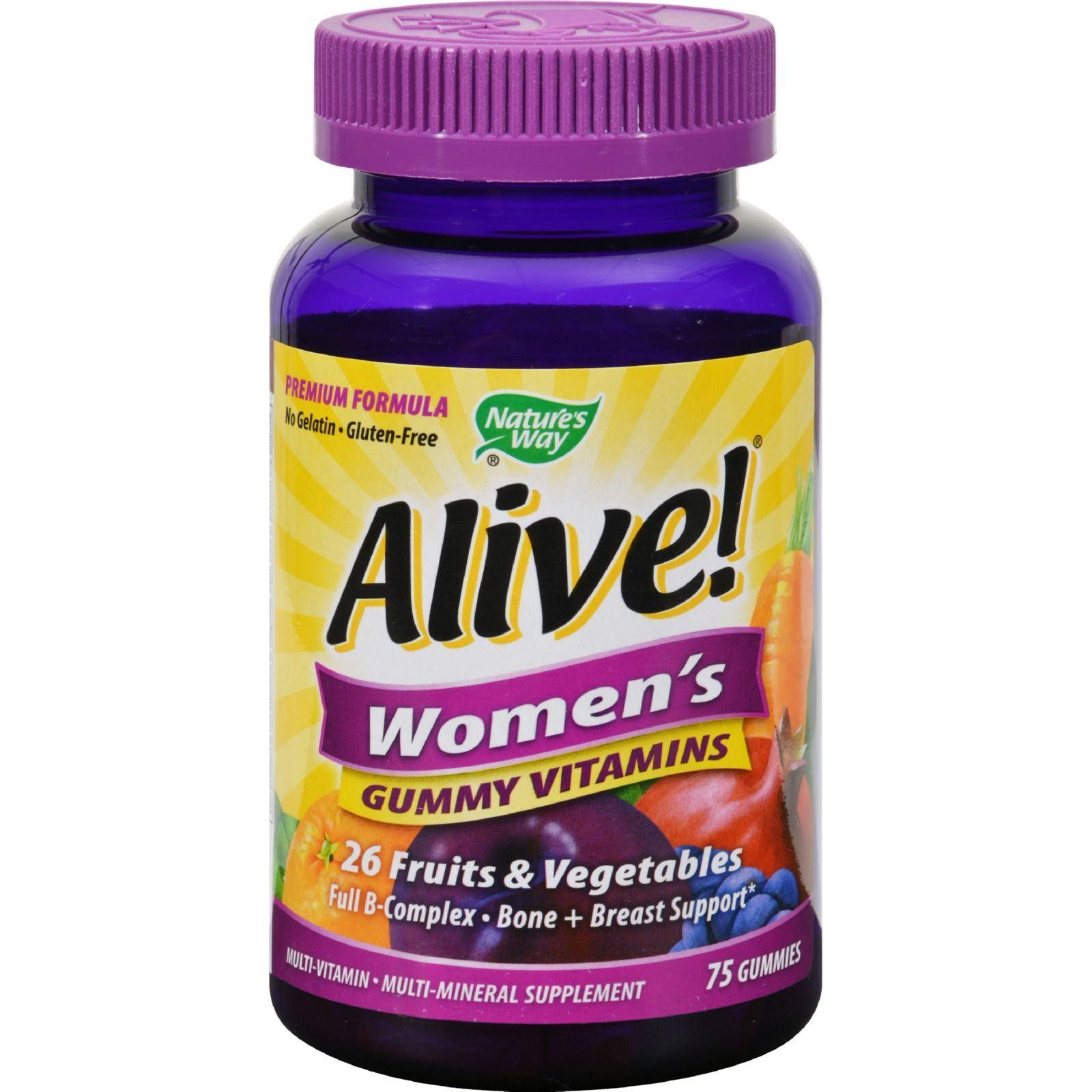 Natures way alive womens energy gummy multivitamins