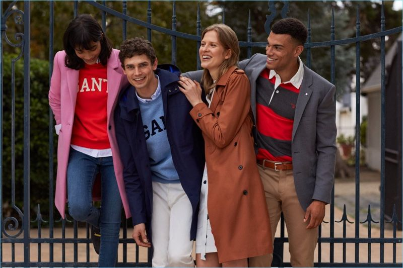 8b573af112 Models Arthur Gosse and Quinten A. appear in Gant's fall-winter 2018  campaign.