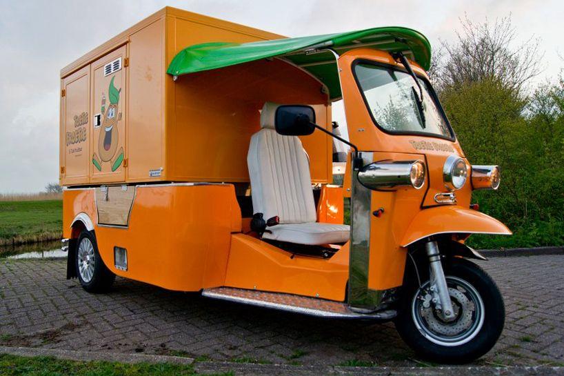 tuk tuk electric food truck my future microcar. Black Bedroom Furniture Sets. Home Design Ideas
