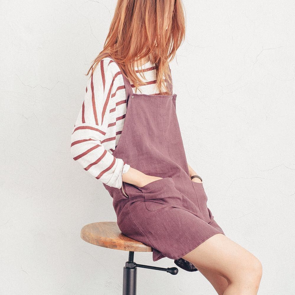 Striped Summer Knit Jumper &  Large Pocket Dungaree Dress online now ;) x #simple #chic #dungaree #unique #summer #musthave #fashion #things