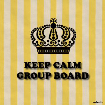 KEEP CALM GROUP BOARD COVER  -created by eleni