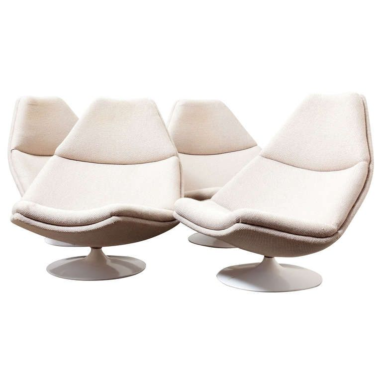 Attractive Geoffrey Harcourt For Artifort Swivel Lounge Chair | 1stdibs.com