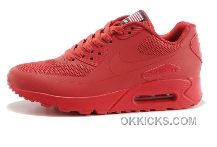 Nike Air Max 90 Hyperfuse PRM Womens Shoes Red