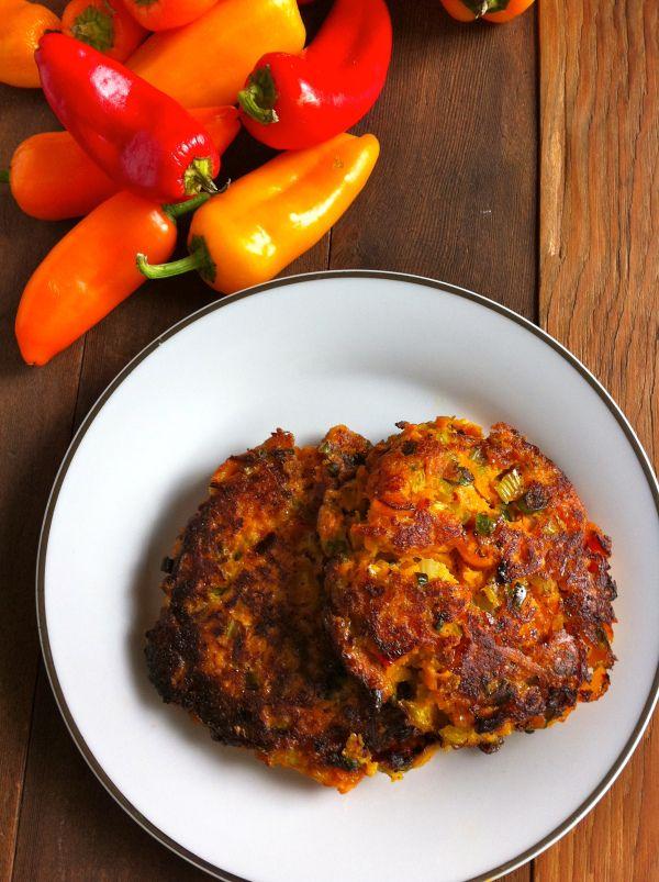 Sweet potato veggie fritters