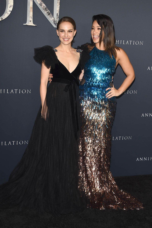 "Natalie Portman and Gina Rodriguez at the ""Annihilation"" Los Angeles  Premiere 868d95e4a"