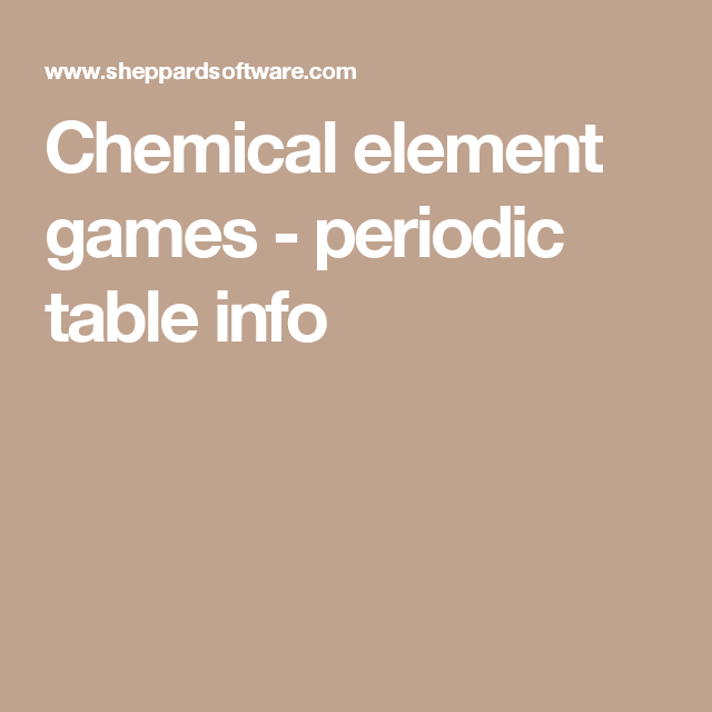 Chemical element games periodic table info general education learn about the periodic table chemistry the elements and more with these free online quizzes and games urtaz Images