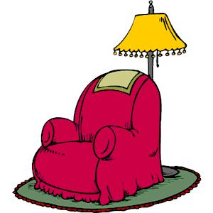 Armchair Lamp And Rug Free Clip Art Clip Art Lamp
