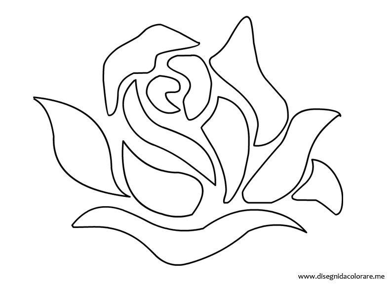 rosa-stencil | Cricut Cricut | Stencil, Disegni e Stampa fiori