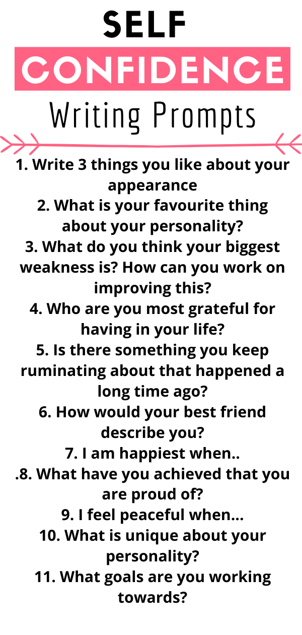 Self Confidence Writing Prompt Tip Building Journal Prompts Essay