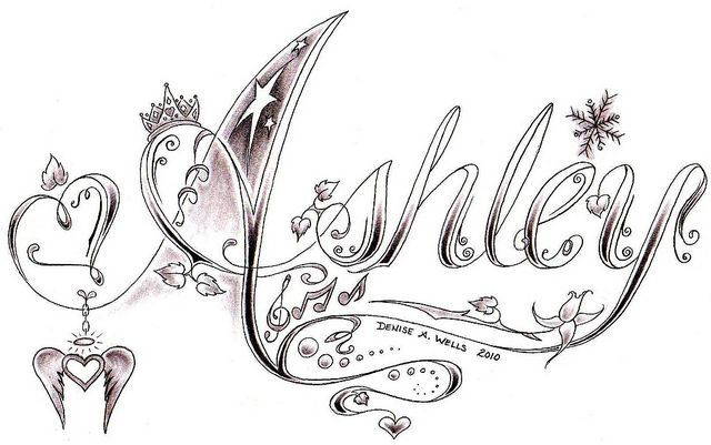 Pin By Elizabeth Fernandez On Dibujos Tattoo Name Fonts My Name Tattoo Princess Crown Tattoos