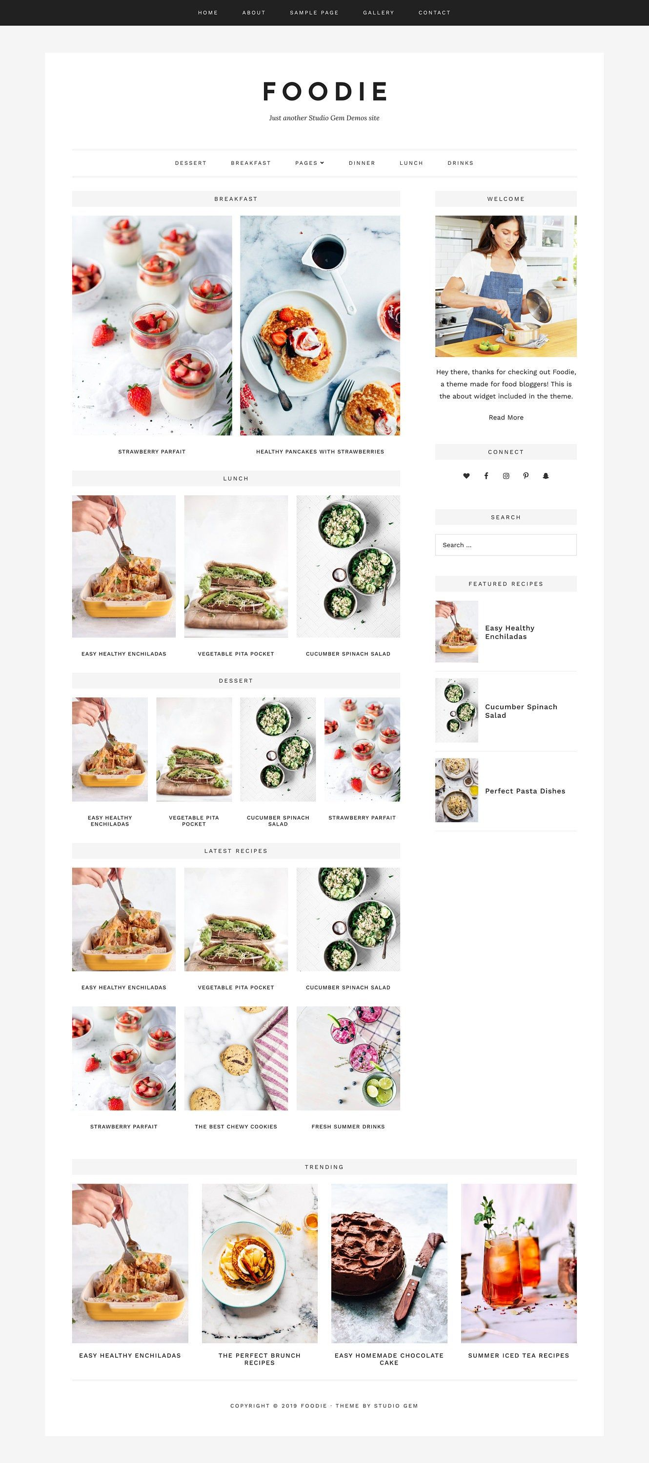 Foodie | Responsive WordPress theme for food blogs