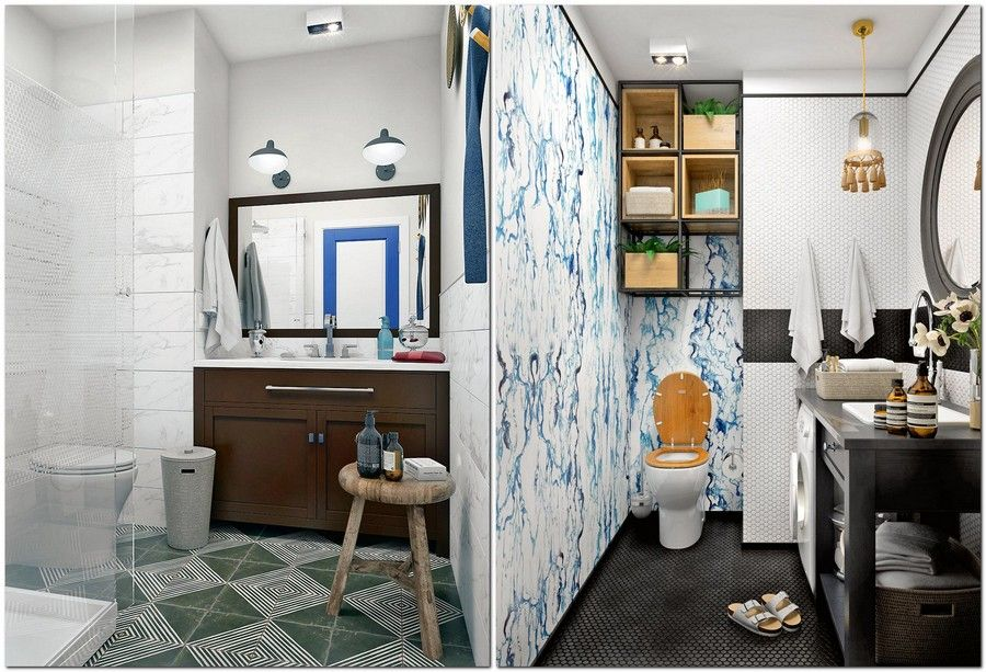 8 bathroom eclectic mixed style middle century modern american rh pinterest com