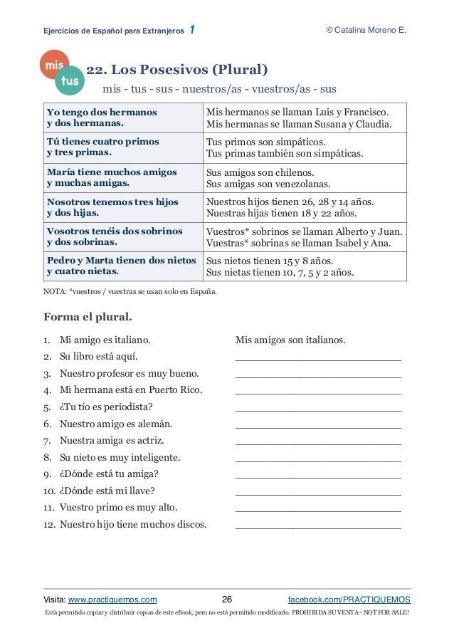 Está Permitido Copiar Y Distribuir Copias De Este Ebook Pero No Está Permitido Modificarlo Prohibida Su Venta Not For Spaanse Werkbladen Spaans Werkbladen