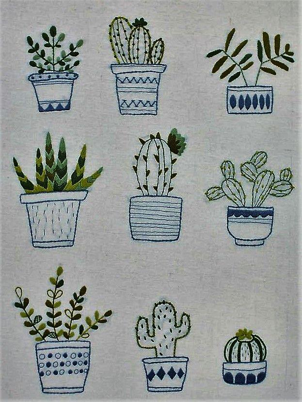 Pin de RUBY GIRON en bordado | Pinterest | Bordado, Cactus y Puntadas