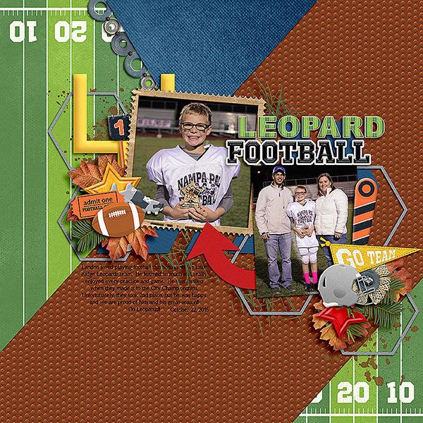 Layout using {Football Season} Digital Scrapbook Collection by Clever Monkey Graphics available at Gingerscraps http://store.gingerscraps.net/Football-Season-Bundle-by-Clever-Monkey-Graphics.html #clevermonkeygraphics