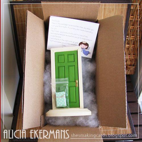 Tooth fairy door deliver when tooth is loose and get for Works elf door
