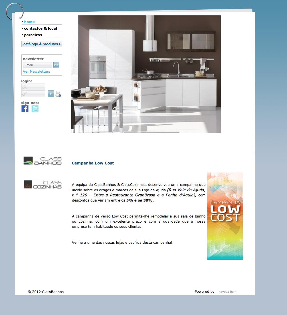Class Banhos e Class Cozinhas sells utilities for the bathroom and ...