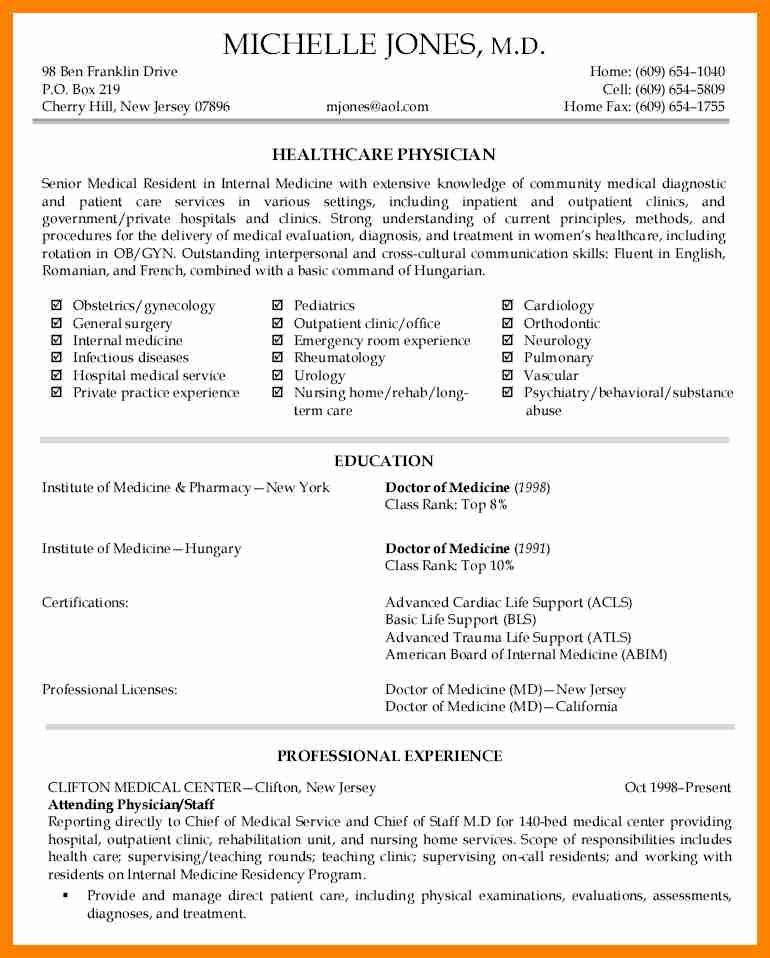 Image result for physician cv Exercise Sample resume cover