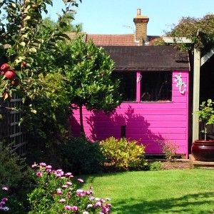 Garden Sheds Very 8 really simple, cheap ways to transform your shed | bright pink