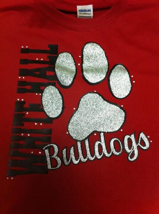 Paw glitter bling tee-Can also change paw to school emblem on Etsy ... 745816330