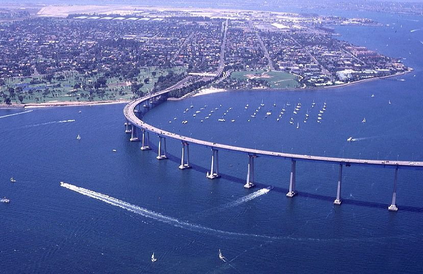 Coronado Bridge Leading To Island San Go California I Love Driving Across This With The Windows Down On There Is A