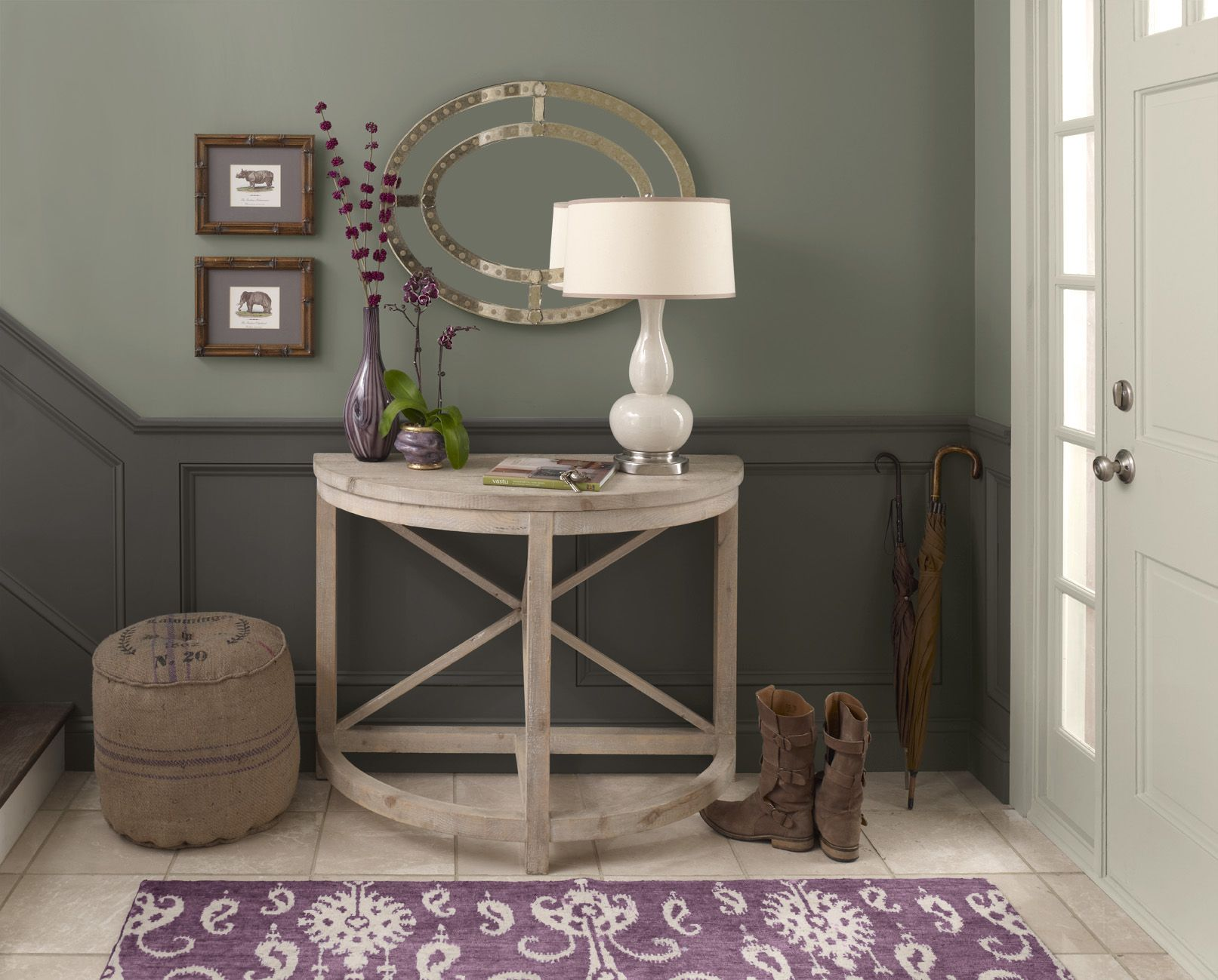 Foyer Colors Benjamin Moore : Color collections wainscoting penthouses and foyers