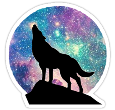 Howling Wolf Sticker By Abbey Griffin Wolf Silhouette Wolf Howling Wolf Artwork