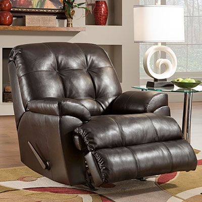 Simmons® Manhattan Faux Leather Recliner | Furniture ...
