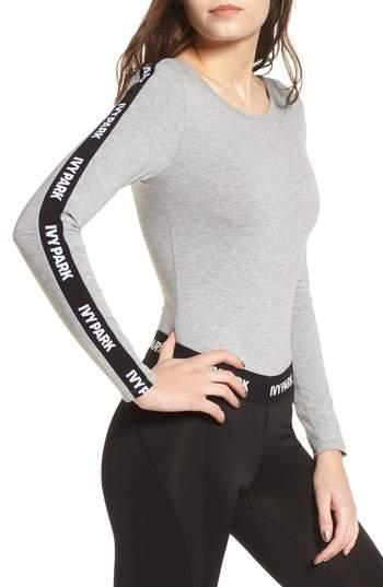 817cc5aeef2e8 Ivy Park R) Logo Stripe Sleeve Bodysuit