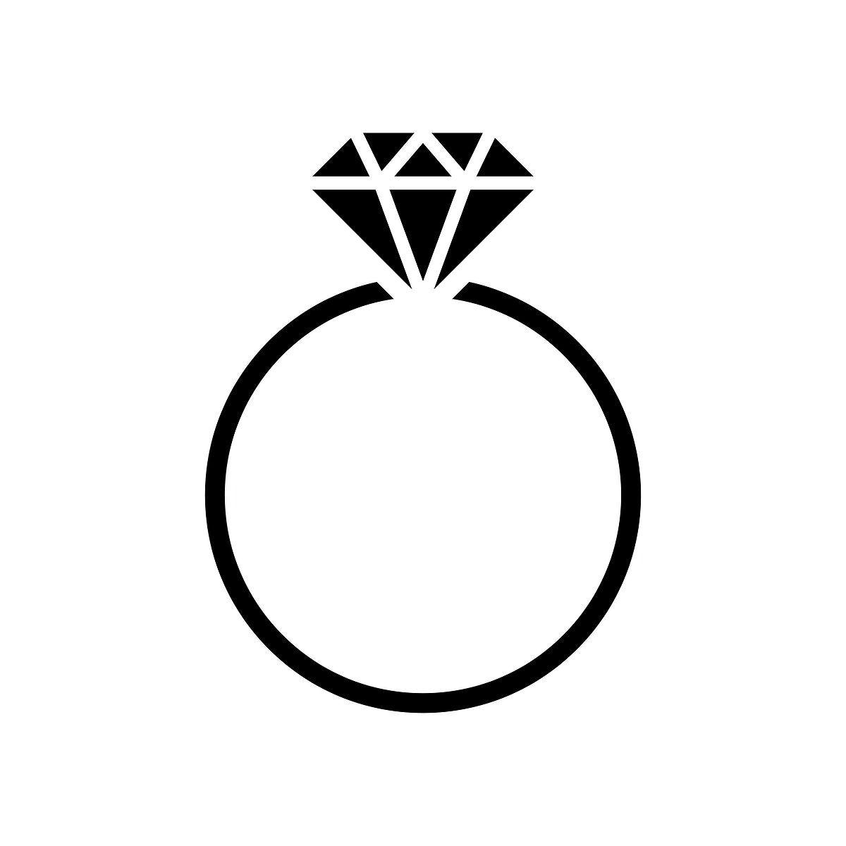 Diamond Wedding Ring Graphic Illustration Free Image By Rawpixel Com Manotang Wedding Ring Graphic Ring Logo Wedding Ring Logo