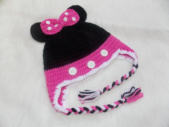8821998965b Minnie Mouse HatCrochet Baby Girl HatMinnie Mouse by StephanDesign