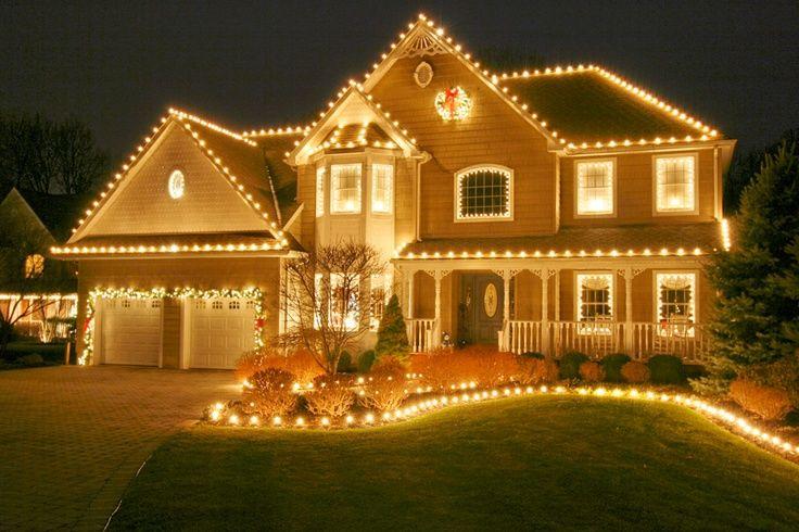 Decoracion Navidena Al Exterior En Estados Unidos Luces De Navidad Exteriores Luces Festivas Colgar Luces De Navidad