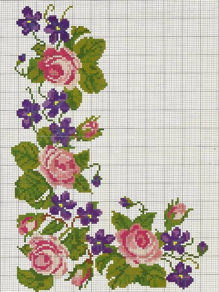 Flores Em Ponto Cruz Ponto Cruz Flores Projetos De Ponto Cruz