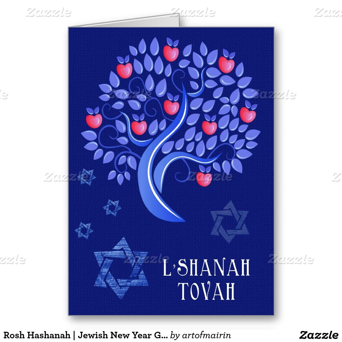 Rosh Hashanah Jewish New Year Greeting Cards Rosh Hashanah And