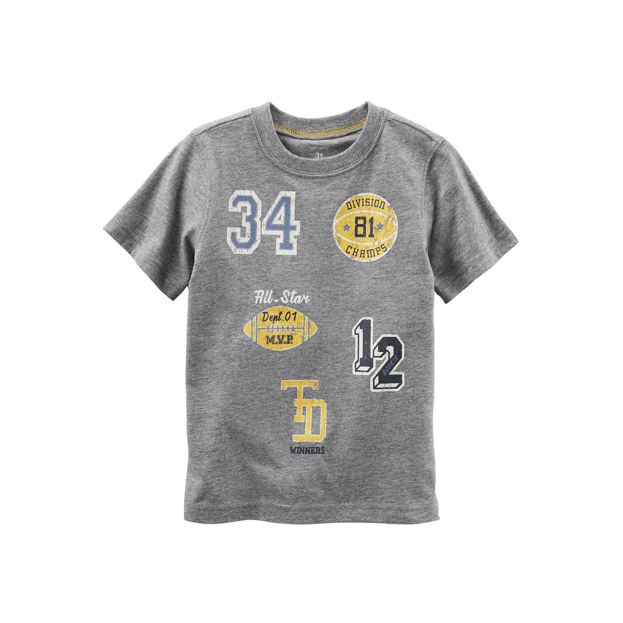 Baby Boy Carter s Athletic Applique Patch Tee Size 18 Months