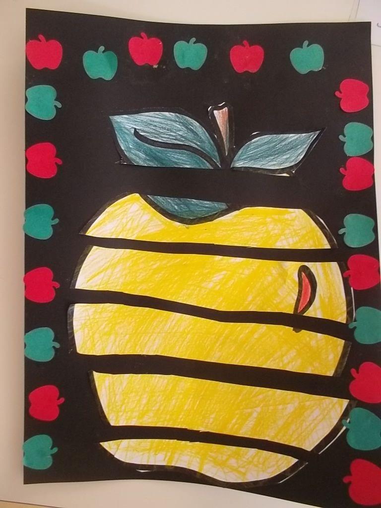 reconstituer une pomme en arts visuels