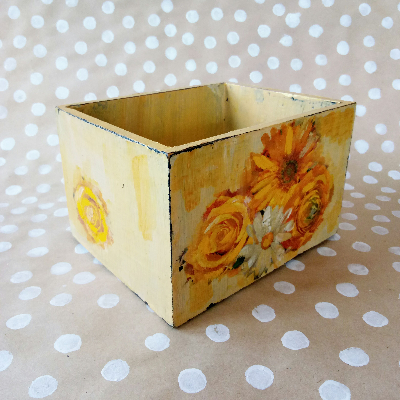 Decorative Card Boxes Wood Box Centerpiece  Planter Box  Cactus Planter  Bath Decor