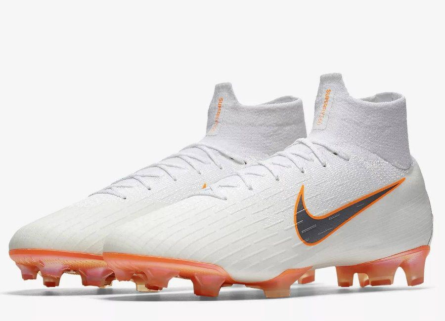 43d43fb89ce8a  football  soccer  futbol  nikefootball Nike Mercurial Superfly 360 Elite FG  Just Do It Pack - White   Total Orange   Metallic Cool Grey