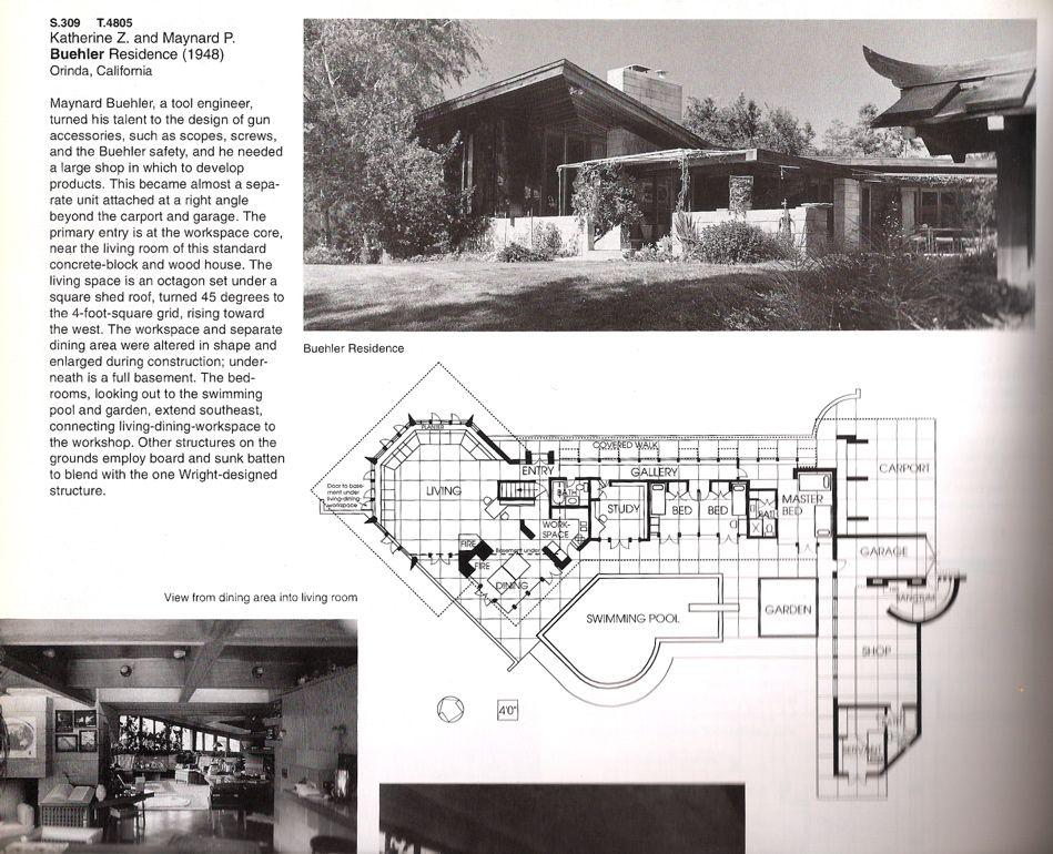 Maynard and Katharine Buehler House. Orinda California ...