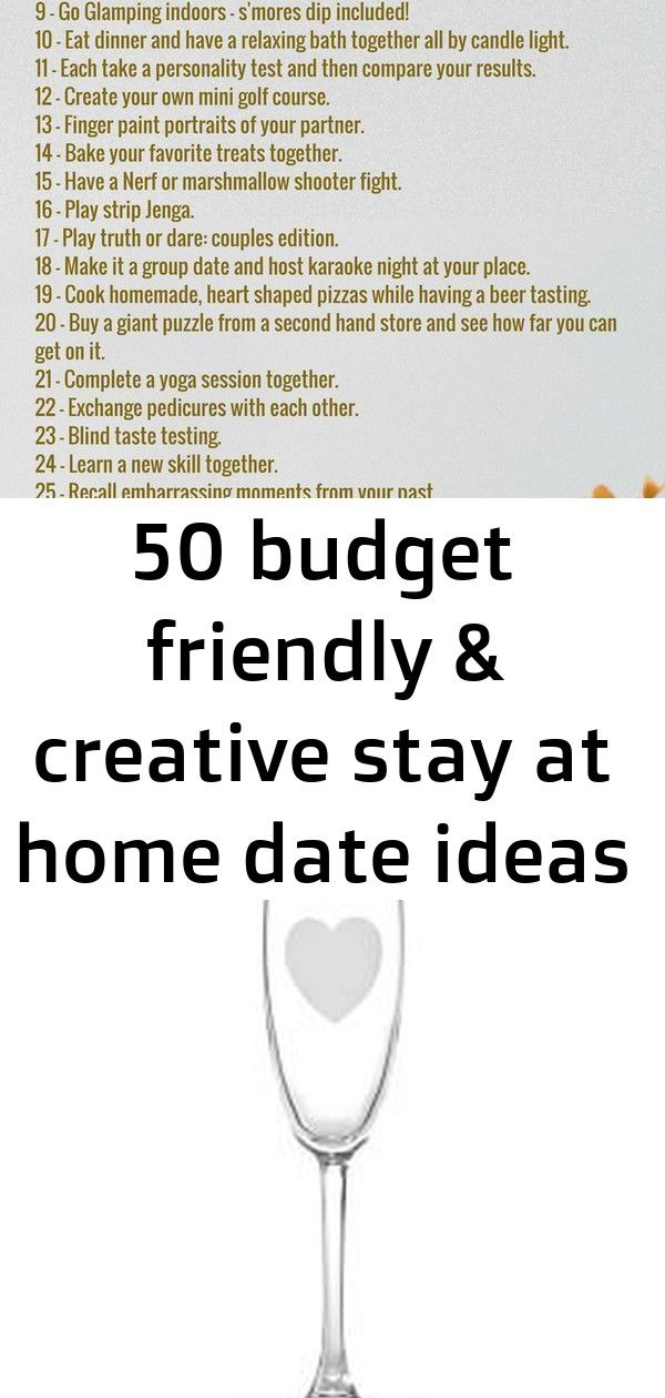 50 budget friendly & creative stay at home date ideas 4