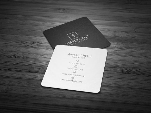 Square minimal business card by galaxiya on creativemarket square minimal business card by galaxiya on creativemarket business cards onlinebusiness reheart Image collections