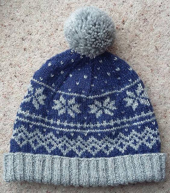Ravelry: Snowflake hat pattern by LolaC 101 | Hat knitting ...