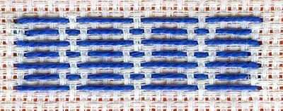 "Pattern darning stitch, also called ""Kogin"" Embroidery; Oka"