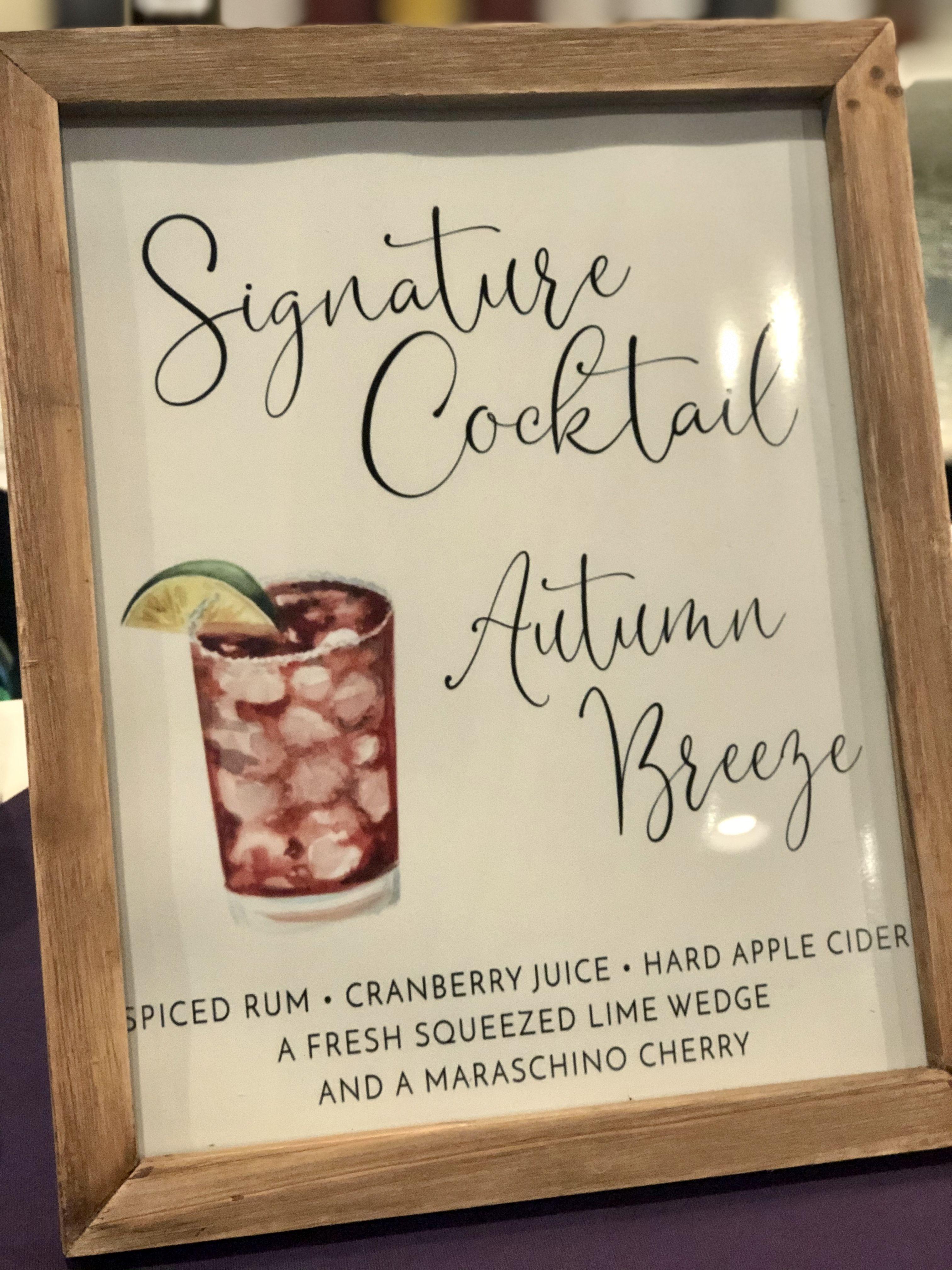 fall wedding signature drink in 2020 Fall signature