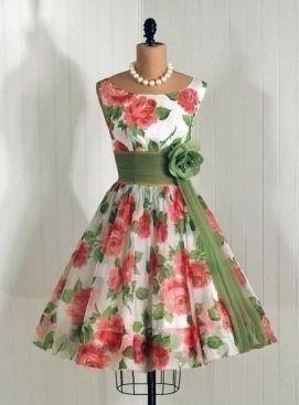 2577278c53 Vintage floral Dress Vintage