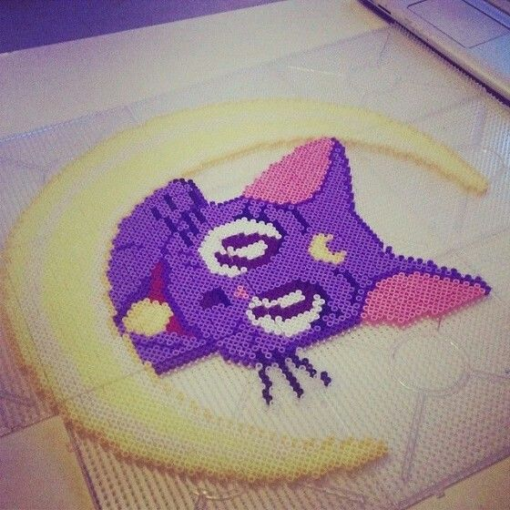 Hama beads idea mix luna Sailor moon biby creations Couture tutorial pyssla
